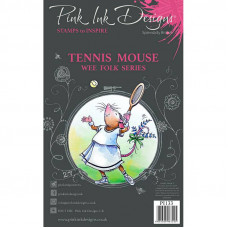 Pink Ink Designs - Tennis Mouse - A7 Clear Stamp
