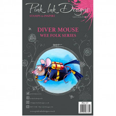 Pink Ink Designs - Diver Mouse - A7 Clear Stamp