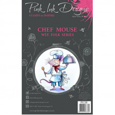 Pink Ink Designs - Chef Mouse - A5 Clear Stamp