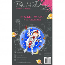 Pink Ink Designs - Rocket Mouse - A7 Clear Stamp