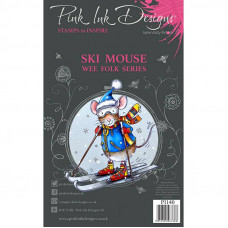 Pink Ink Designs - Ski Mouse - A7 Clear Stamp