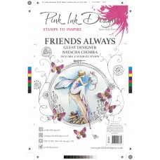 Pink Ink Designs A5 Clear Stamp Set - Friends Always