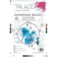Pink Ink Designs A5 Clear Stamp Set - Dandelion Ballet