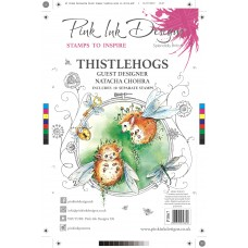 Pink Ink Designs A5 Clear Stamp Set - Thistlehogs