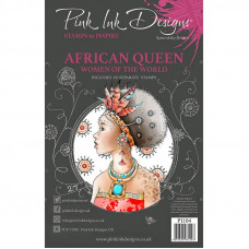 Pink Ink Designs A5 Clear Stamp Set - African Queen