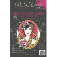 Pink Ink Designs A5 Clear Stamp Set - Oriental Princess