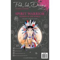 Pink Ink Designs A5 Clear Stamp Set - Spirit Warrior