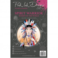 Pink Ink Designs A5 Clear Stamp Set - Spirit Warrior