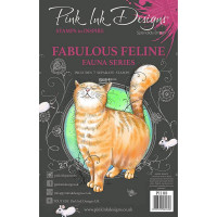 Pink Ink Designs A5 Clear Stamp - Fabulous Feline