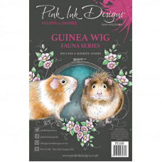 Pink Ink Designs A5 Clear Stamp - Guinea Wig