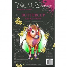 Pink Ink Designs A5 Clear Stamp Set - Buttercup