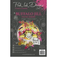Pink Ink Designs A5 Clear Stamp Set - Buffalo Jill