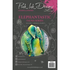 Pink Ink Designs A5 Clear Stamp Set - Elephantastic