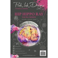 Pink Ink Designs A5 Clear Stamp Set - Hip Hippo-Ray