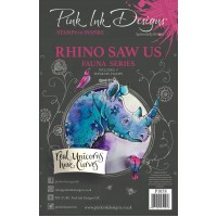 Pink Ink Designs A5 Clear Stamp Set - Rhino Saw Us