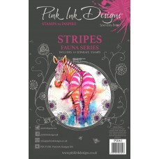 Pink Ink Designs A5 Clear Stamp Set - Stripes