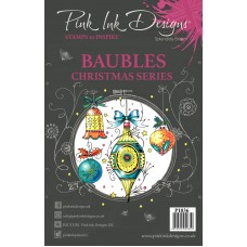 Pink Ink Designs A5 Clear Stamp Set - Baubles