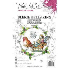 Pink Ink Designs A5 Clear Stamp Set - Sleigh Bells Ring