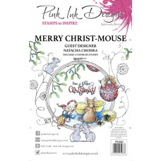 Pink Ink Designs A5 Clear Stamp Set - Merry Christ Mouse
