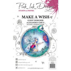 Pink Ink Designs A5 Clear Stamp Set - Make A Wish