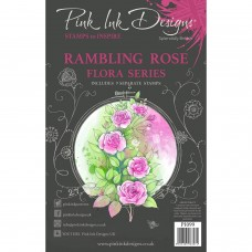 Pink Ink Designs A5 Clear Stamp Set - Rambling Rose