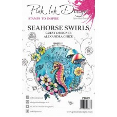 Pink Ink Designs A5 Clear Stamp Set - Seahorse Swirls