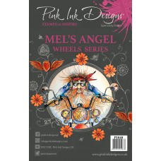 Pink Ink A5 Clear Stamp - Mel's Angel