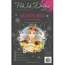 Pink Ink Designs A5 Clear Stamp Set - Queen Bee