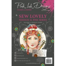 Pink Ink Designs A5 Clear Stamp - Sew Lovely