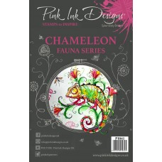 Pink Ink A5 Clear Stamp - Chameleon