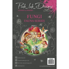 Pink Ink A5 Clear Stamp - Fungi