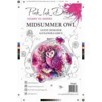 Pink Ink Designs A5 Clear Stamp Set - Midsummer Owl