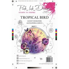 Pink Ink Designs A5 Clear Stamp Set - Tropical Bird