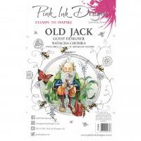 Pink Ink Designs A5 Clear Stamp Set - Old Jack
