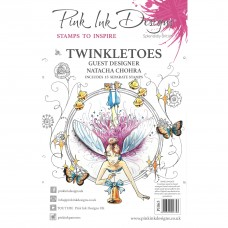 Pink Ink Designs A5 Clear Stamp Set - Twinkletoes