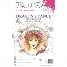 Pink Ink Designs A5 Clear Stamp Set - Dragon's Dance