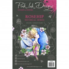 Pink Ink Designs A5 Clear Stamp Set - Rosehip