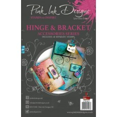 Pink Ink Designs A5 Clear Stamp Set - Hinge & Bracket
