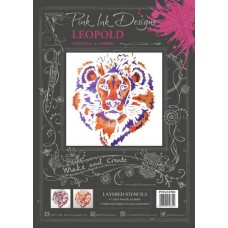 Pink Ink Layered Stencils - Lion