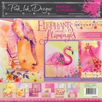Pink Ink Designs - Elephants and Flamingos 12 x 12 Paper Pad