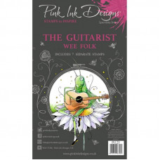 Pink Ink Designs - The Guitarist A6 Clear Stamp Set