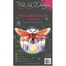 Pink Ink Designs - The Drummer A6 Clear Stamp Set