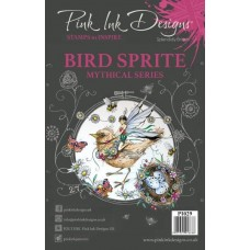 Pink Ink A5 Clear Stamp - Bird Sprite