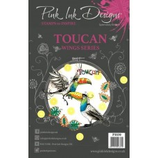 Pink Ink A5 Clear Stamp - Toucan