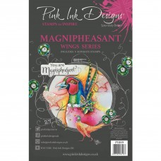 Pink Ink Designs A5 Clear Stamp Set - Magnipheasant
