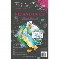 Pink Ink Designs A5 Clear Stamp Set - Nip and Duck