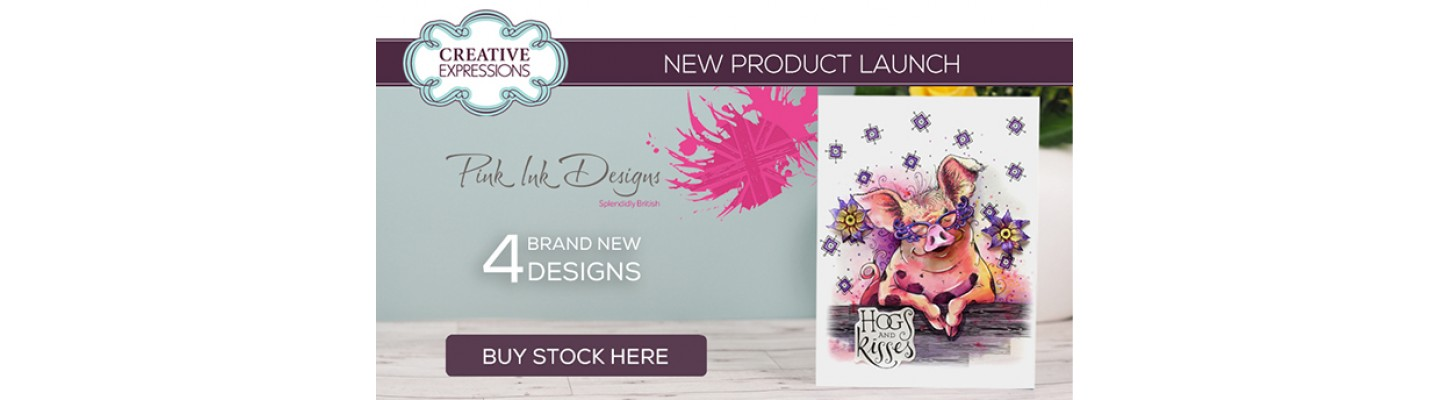 New Pink Ink Designs Stamps