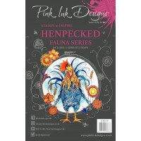 Pink Ink Designs A5 Clear Stamp Set - Henpecked