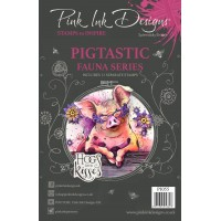 Pink Ink Designs A5 Clear Stamp Set - Pigtastic