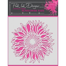 Pink Ink Designs - Sunflower Rays Stencil